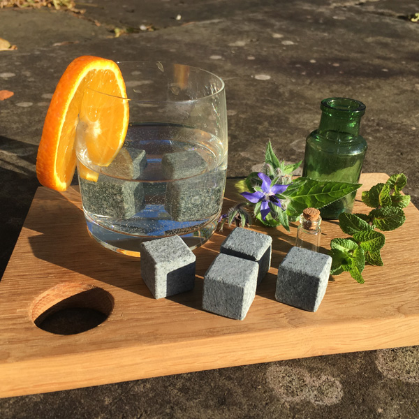 Modern Stone Age offer Scottish drink stones that cool your gin without altering its carefully blended botanical flavours.